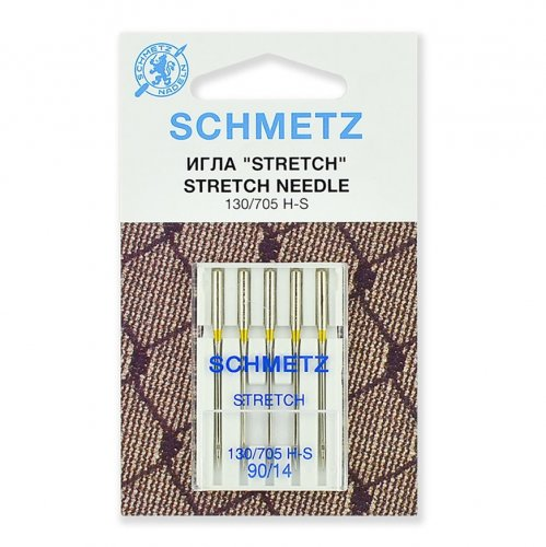 Иглы для шв. машин  Schmetz STRETCH 130/705 Н-S №90 (5шт)