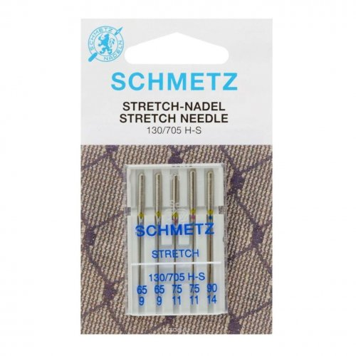 Иглы для шв. машин  Schmetz STRETCH 130/705 Н-S №65-75-90 (5шт)